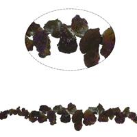 Vergoldete Achat Perlen, Klumpen, plattiert, facettierte, 14x8x5mm-35x17x14mm, Bohrung:ca. 1mm, ca. 55PCs/Strang, verkauft per ca. 17.7 ZollInch Strang