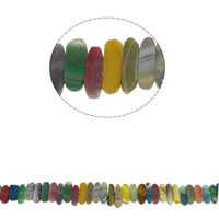 Natürliche Regenbogen Achat Perlen, facettierte, 21x7x6mm-30x8x6mm, Bohrung:ca. 1mm, ca. 41PCs/Strang, verkauft per ca. 15.7 ZollInch Strang
