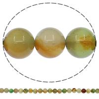 Natürliche Regenbogen Achat Perlen, rund, verschiedene Größen vorhanden, Bohrung:ca. 1mm, Länge:ca. 15 ZollInch, verkauft von Tasche