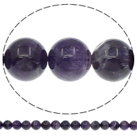 Natürliche violette Achat Perlen, Violetter Achat, rund, verschiedene Größen vorhanden, Bohrung:ca. 1mm, Länge:ca. 15.7 ZollInch, verkauft von Tasche