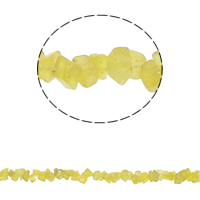 Edelstein-Span, Gelbquarz Perlen, Bruchstück, November Birthstone, 5-8mm, Bohrung:ca. 0.8mm, ca. 260PCs/Strang, verkauft per ca. 34.6 ZollInch Strang