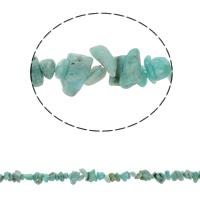 Amazonit Perlen, Bruchstück, natürlich, 5-8mm, Bohrung:ca. 0.8mm, ca. 260PCs/Strang, verkauft per ca. 34.6 ZollInch Strang