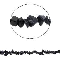 Edelstein-Span, blauer Goldsand, Bruchstück, 5-8mm, Bohrung:ca. 0.8mm, ca. 260PCs/Strang, verkauft per ca. 33.8 ZollInch Strang