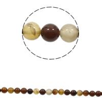 Natürliche Kaffee Achat Perlen, rund, verschiedene Größen vorhanden, Bohrung:ca. 1mm, Länge:ca. 15 ZollInch, verkauft von Tasche