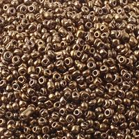 Plattierte Glas Rocailles, Glas-Rocailles, rund, verschiedene Größen vorhanden, Bohrung:ca. 1mm, verkauft von Tasche