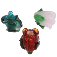Handgewickelte Perlen, Lampwork, Blume, handgemacht, keine, 11x12mm, Bohrung:ca. 2mm, 100PCs/Tasche, verkauft von Tasche