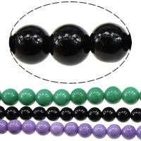 Malaysia Jade Perle, rund, verschiedene Größen vorhanden, keine, Bohrung:ca. 1mm, Länge:ca. 16 ZollInch, verkauft von Menge