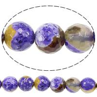 Feuerachat Perle, rund, natürlich, verschiedene Größen vorhanden & facettierte, Bohrung:ca. 1.5mm, verkauft per ca. 14.5 ZollInch Strang