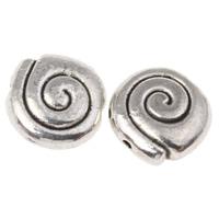 Zinklegierung Tier Perlen, Schnecke, antik silberfarben plattiert, frei von Nickel, Blei & Kadmium, 8.5x3.5mm, Bohrung:ca. 1mm, ca. 1000PCs/kg, verkauft von kg