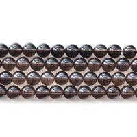 Natürliche Rauchquarz Perlen, rund, verschiedene Größen vorhanden, Länge:ca. 15 ZollInch, verkauft von Menge
