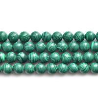 Malachit Perlen, rund, synthetisch, verschiedene Größen vorhanden, Länge:ca. 15 ZollInch, verkauft von Menge