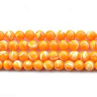 Turbanschnecken Perle, rund, natürlich, verschiedene Größen vorhanden, orange, Länge:ca. 15 ZollInch, verkauft von Menge