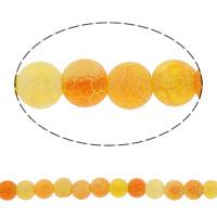 Natürliche Effloresce Achat Perlen, Auswitterung Achat, rund, verschiedene Größen vorhanden, rot, Bohrung:ca. 1-1.2mm, verkauft per 15.5 ZollInch Strang