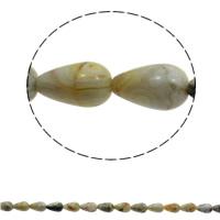 Natürliche verrückte Achat Perlen, Verrückter Achat, Tropfen, 10x14mm, Bohrung:ca. 1mm, 28PCs/Strang, verkauft per ca. 15.7 ZollInch Strang