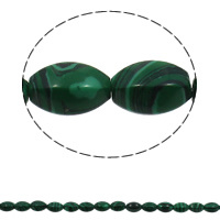 Malachit Perle, oval, synthetisch, 10x15mm, Bohrung:ca. 1mm, 28PCs/Strang, verkauft per ca. 15.7 ZollInch Strang