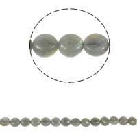Natürliche graue Achat Perlen, Grauer Achat, flache Runde, 12x6mm, Bohrung:ca. 1.5mm, ca. 35PCs/Strang, verkauft per ca. 15.3 ZollInch Strang