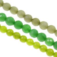 gefärbter Marmor Perle, rund, verschiedene Größen vorhanden & facettierte, keine, Bohrung:ca. 1.5mm, verkauft per ca. 15.7 ZollInch Strang
