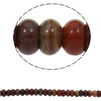 Regenbogen Jaspis Perle, Rondell, natürlich, 10x6mm, Bohrung:ca. 1.5mm, ca. 64PCs/Strang, verkauft per ca. 15.7 ZollInch Strang