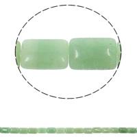 Grüner Aventurin Perle, Rechteck, natürlich, 13x18x6mm, Bohrung:ca. 1.5mm, ca. 22PCs/Strang, verkauft per ca. 15.3 ZollInch Strang