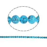 Einbrennlack Glasperlen, Glas, rund, 10mm, Bohrung:ca. 1mm, Länge:ca. 32.2 ZollInch, 10SträngeStrang/Tasche, ca. 88PCs/Strang, verkauft von Tasche