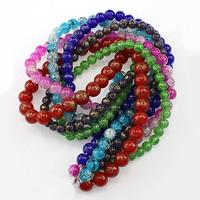 Runde Kristallperlen, Kristall, verschiedene Größen vorhanden & Knistern, mehrere Farben vorhanden, verkauft von Menge