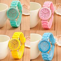 Damen Armbanduhr, Silikon, mit Glas & Zinklegierung, goldfarben plattiert, einstellbar & für Frau, keine, frei von Nickel, Blei & Kadmium, 38x7mm, 14mm, Länge:ca. 8.7 ZollInch, verkauft von PC