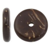 Kokos-Perlen, Kokosrinde, flache Runde, natürlich, verschiedene Größen vorhanden, originale Farbe, Klasse AA, Bohrung:ca. 2mm, 1000PCs/Tasche, verkauft von Tasche