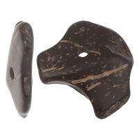 Kokosnuss Anhänger, Kokosrinde, natürlich, originale Farbe, 12-18mmx13-22mm, Bohrung:ca. 1mm, 1000PCs/Tasche, verkauft von Tasche