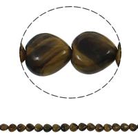 Tigerauge Perlen, Herz, natürlich, 12x5mm, Bohrung:ca. 1.5mm, ca. 36PCs/Strang, verkauft per ca. 15.7 ZollInch Strang