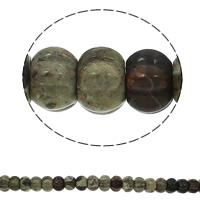 Mahagoni Obsidian Perlen, mahagonibrauner Obsidian, Rondell, natürlich, gewellt, 15x10mm, Bohrung:ca. 1.5mm, ca. 40PCs/Strang, verkauft per ca. 15.7 ZollInch Strang