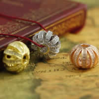 Befestiger Zirkonia Sterlingsilber Perlen, 925 Sterling Silber, Trommel, plattiert, Micro pave Zirkonia & hohl, gemischte Farben, 11.95x16.02mm, Bohrung:ca. 2-3mm, 3PCs/Menge, verkauft von Menge