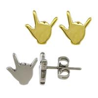 Edelstahl Ohrringe, Hand, plattiert, keine, 8x9x11.50mm, verkauft von Paar