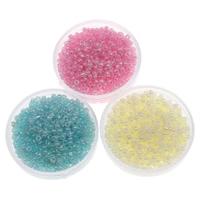 Ceylon Glas-Rocailles, rund, keine, 2x1.9mm, Bohrung:ca. 1mm, ca. 6660PCs/Tasche, verkauft von Tasche