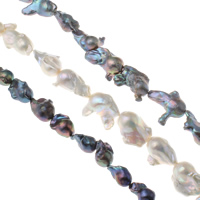 Kultivierte kernhaltige Süßwasserperlen, kultivierte Süßwasser kernhaltige Perlen, Keishi, natürlich, keine, 18-30mm, Bohrung:ca. 0.8mm, verkauft per ca. 15.3 ZollInch Strang