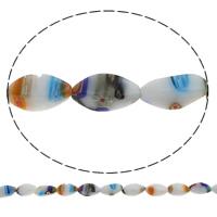 Millefiori Glasperlen, Glas Millefiori, Twist, handgemacht, verschiedene Größen vorhanden, Bohrung:ca. 1mm, Länge:ca. 14.2 ZollInch, verkauft von Tasche