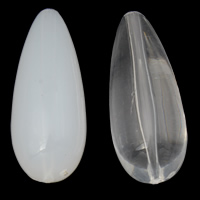 Transparente Acryl-Perlen, Acryl, Tropfen, verschiedene Stile für Wahl, 15x37mm, Bohrung:ca. 1mm, 2Taschen/Menge, ca. 105PCs/Tasche, verkauft von Menge