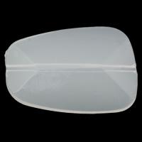 Gelee-Stil-Acryl-Perlen, Acryl, Klumpen, facettierte & Gellee Stil, weiß, 39x27x7mm, Bohrung:ca. 1mm, 2Taschen/Menge, ca. 100PCs/Tasche, verkauft von Menge