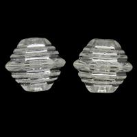 Silberdruck Acrylperlen, Acryl, Doppelkegel, transparent, 11x10mm, Bohrung:ca. 1mm, ca. 1200PCs/Tasche, verkauft von Tasche
