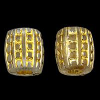 Golddruck Acryl Perlen, Trommel, transparent, 10x11mm, Bohrung:ca. 3mm, ca. 900PCs/Tasche, verkauft von Tasche