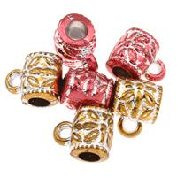 Acryl-Bail Bead, Acryl, Rohr, Silberdruck, keine, 8x10x7mm, Bohrung:ca. 1mm, 3mm, ca. 2300PCs/Tasche, verkauft von Tasche