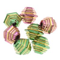 Golddruck Acryl Perlen, Trommel, keine, 11x10mm, Bohrung:ca. 1mm, ca. 1200PCs/Tasche, verkauft von Tasche