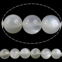 Mondstein Perlen, rund, verschiedene Größen vorhanden, Bohrung:ca. 1mm, verkauft per ca. 15 ZollInch Strang