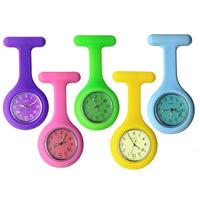 Hängende Uhr, Silikon, mit Zinklegierung Zifferblatt & Glas, Platinfarbe platiniert, keine, frei von Nickel, Blei & Kadmium, 40x85mm, verkauft von PC