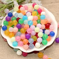 Gelee-Stil-Acryl-Perlen, Acryl, rund, verschiedene Größen vorhanden & Gellee Stil, keine, Bohrung:ca. 1mm, verkauft von Tasche
