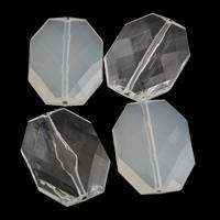 Transparente Acryl-Perlen, Acryl, Achteck, verschiedene Stile für Wahl & facettierte, 25x33x9mm, Bohrung:ca. 1mm, 2Taschen/Menge, ca. 90PCs/Tasche, verkauft von Menge