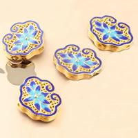 Cloisonne Perlen, Cloisonné, Langlebigkeit Lock, vergoldet, hohl, frei von Blei & Kadmium, 24x20mm, Bohrung:ca. 1.5mm, verkauft von PC