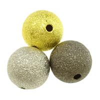 Messing Sternenstaub Perlen, rund, plattiert, verschiedene Größen vorhanden & Falten, keine, frei von Nickel, Blei & Kadmium, verkauft von Menge