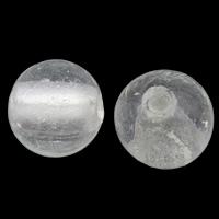 Silberfolie Lampwork Perlen, rund, handgemacht, verschiedene Größen vorhanden, klar, Bohrung:ca. 2mm, 100PCs/Tasche, verkauft von Tasche