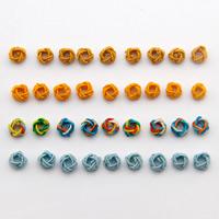 Gewebte Glasperlen, Polyester, Blume, keine, 4x6mm, Bohrung:ca. 1-2mm, 1000PCs/Tasche, verkauft von Tasche