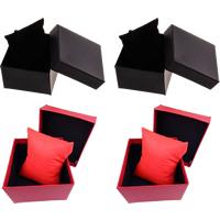 Karton Armbandkasten, mit Nichtgewebte Stoffe, Würfel, keine, 88x82x50mm, verkauft von PC